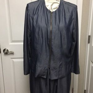 Two piece Denim Dress  Suit,Great for work ,Dinner